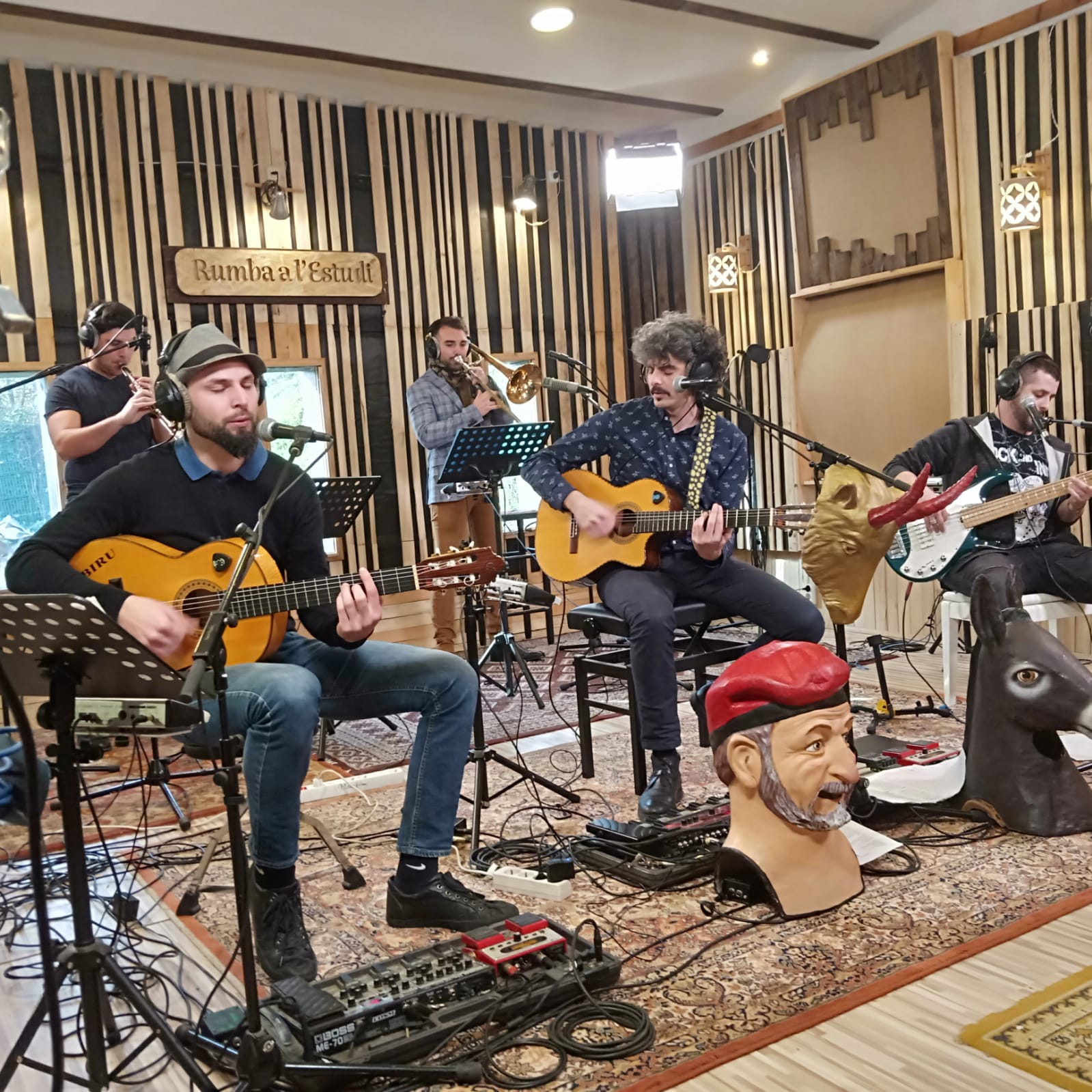 Grabació Els Delai a Rumba a l'estudi